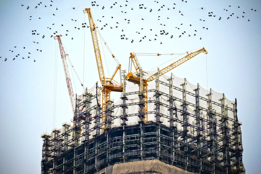 Picture of a building construction site.